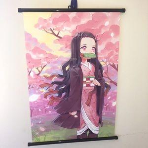 Nezuko Cherry Blossom Wall Scroll Poster